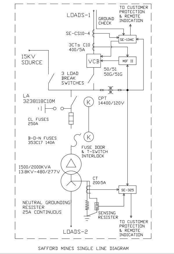 electrical single line diagram symbols